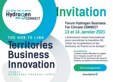 invitation Forum Hydrogen Business For Climate CONNECT 13 et 14 janvier 2021