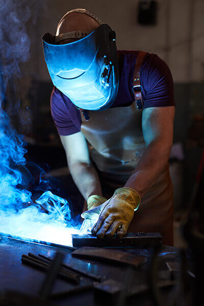Technician making a weld