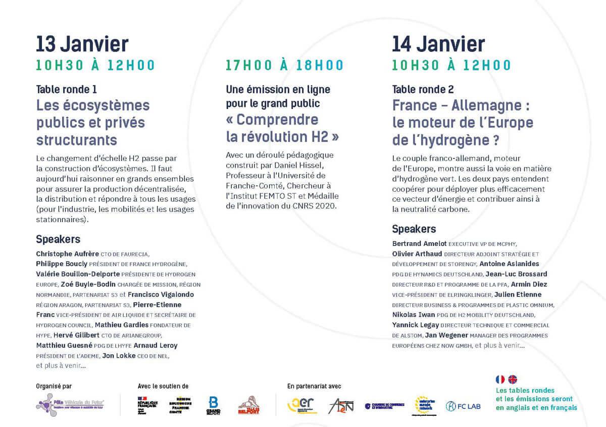 programme Forum Hydrogen Business For Climate CONNECT 13 et 14 janvier 2021