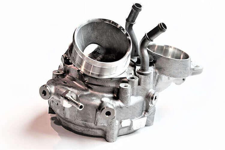 turbo compresseur en aluminium SICTA fabriqué en grandes séries pour l'industrie automobile