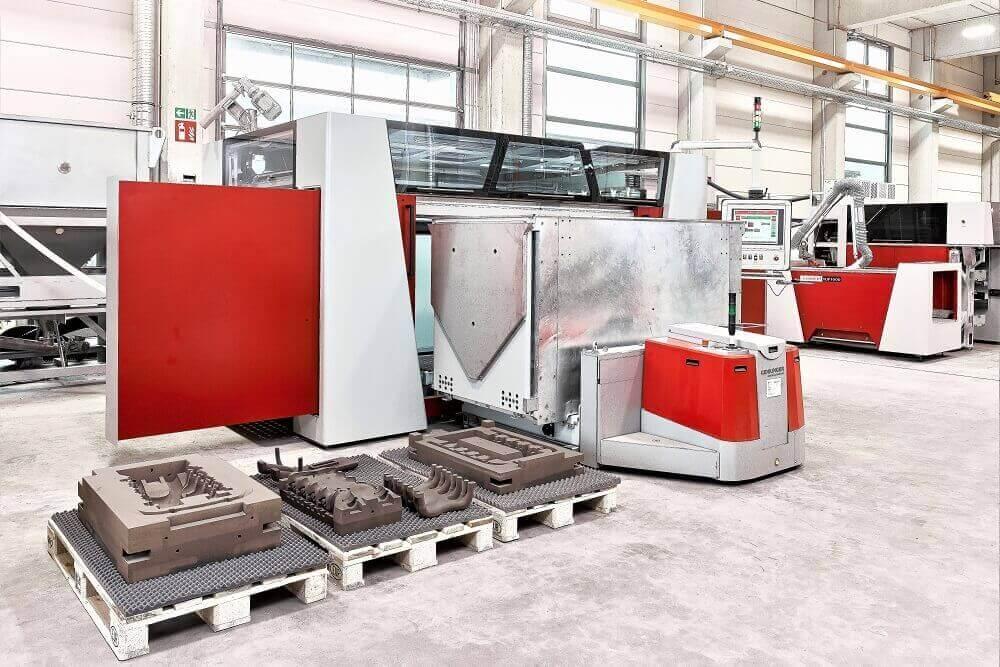 Imprimante 3D Voxeljet, fabrication additive de moules en sable pour fonderie aluminium FRB
