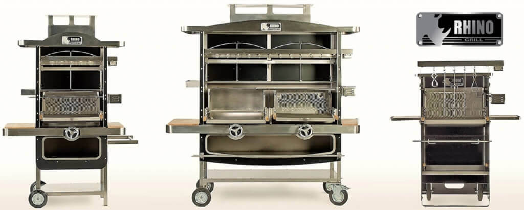 Multi-function wood-fired Rotisseries Rhinogrill by Citele Industrie