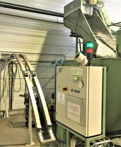 compacteur à briquettes SICTA (copeaux d'aluminium compactés prêts à être refondus)