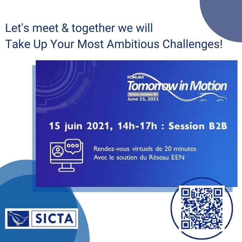 Tomorrow In Motion SICTA invitation for 2B2 e-meetings