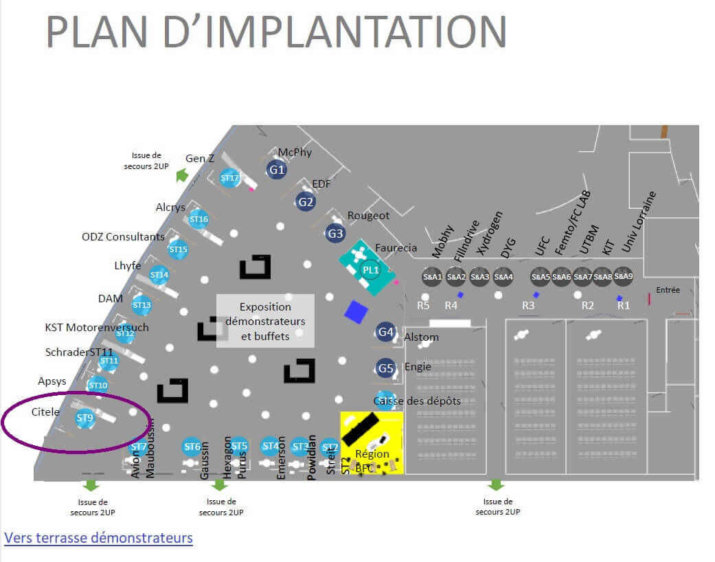 Floor Plan H2BFC 2021 CITELE booth